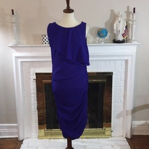 🌹Bcbg maxazria Silk side zip blue cocktail dress